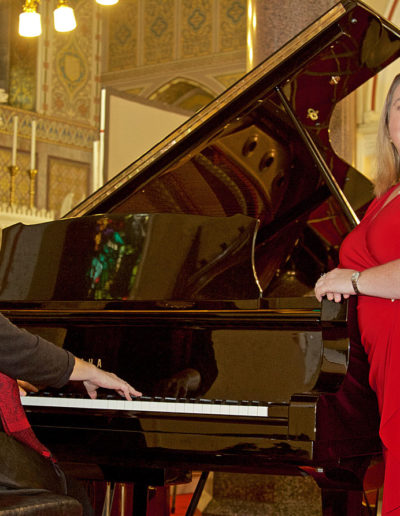 Valerie Leahy and Marian Ingoldsby perform