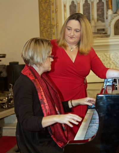 Valerie Leahy and Marian Ingoldsby at the piano