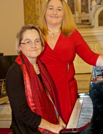 Valerie Leahy and Marian Ingoldsby prior to performance