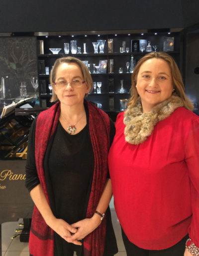 Valerie Leahy and Marian Ingoldsby at House of Waterford Crystal concert 2018