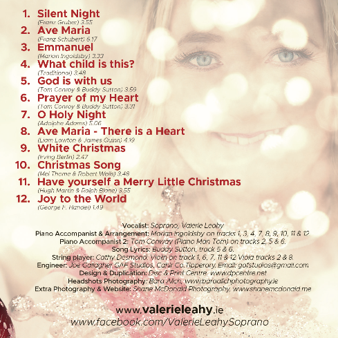 CD Back Cover - Valerie Leahy